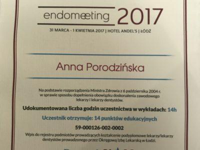 <span>lek. stom. Anna Porodzińska</span> Anna Porodzińska certyfikaty 1