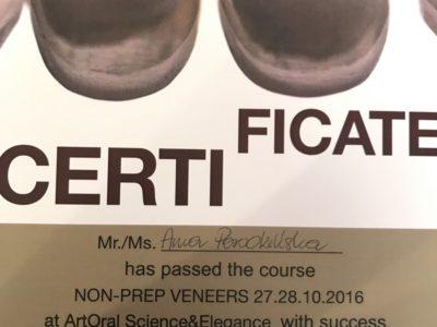 <span>lek. dent. Anna Porodzińska</span> Anna Porodzińska certyfikaty 6