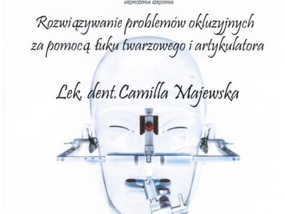 <span>lek. stom. Camilla Majewska</span> Camilla Majewska certyfikaty 2