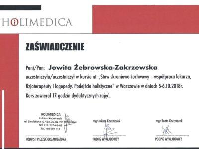 <span>lek. dent. Jowita Żebrowska-Zakrzewska</span><br/><small>właściciel</small> Jowita Żebrowska Zakrzewska certyfikaty 5