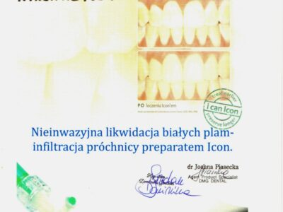 <span>mgr dyp. hig. Magdalena Żebrowska–Kazimierczyk</span> Magdalena Żebrowska certyfikat Icon