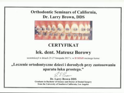 <span>lek. dent. Mateusz Borowy</span> Mateusz Borowy certyfikaty 10