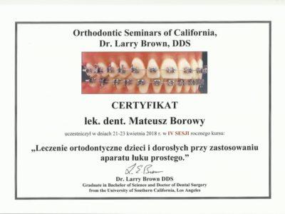 <span>lek. dent. Mateusz Borowy</span> Mateusz Borowy certyfikaty 12