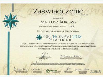 <span>lek. dent. Mateusz Borowy</span> Mateusz Borowy certyfikaty 14