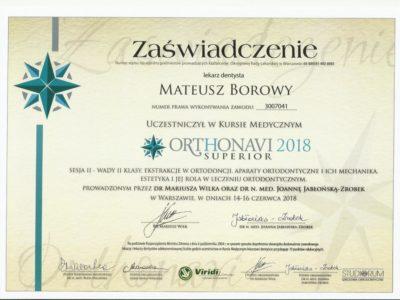 <span>lek. dent. Mateusz Borowy</span> Mateusz Borowy certyfikaty 15