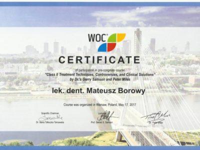 <span>lek. dent. Mateusz Borowy</span> Mateusz Borowy certyfikaty 6