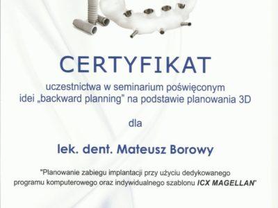 <span>lek. dent. Mateusz Borowy</span> Mateusz Borowy certyfikaty 7
