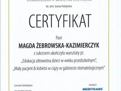 <span>mgr dyp. hig. Magdalena Żebrowska–Kazimierczyk</span> szkolenie dzieci